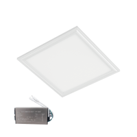 LED-PANEL 24W 4000-4300K 295X295mm, VIT RAM, IP44 MED NÖDSTOPP