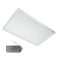 LED-PANEL 36W 4000-4300K 595X295mm, VIT RAM, IP44 MED NÖDSTOPP
